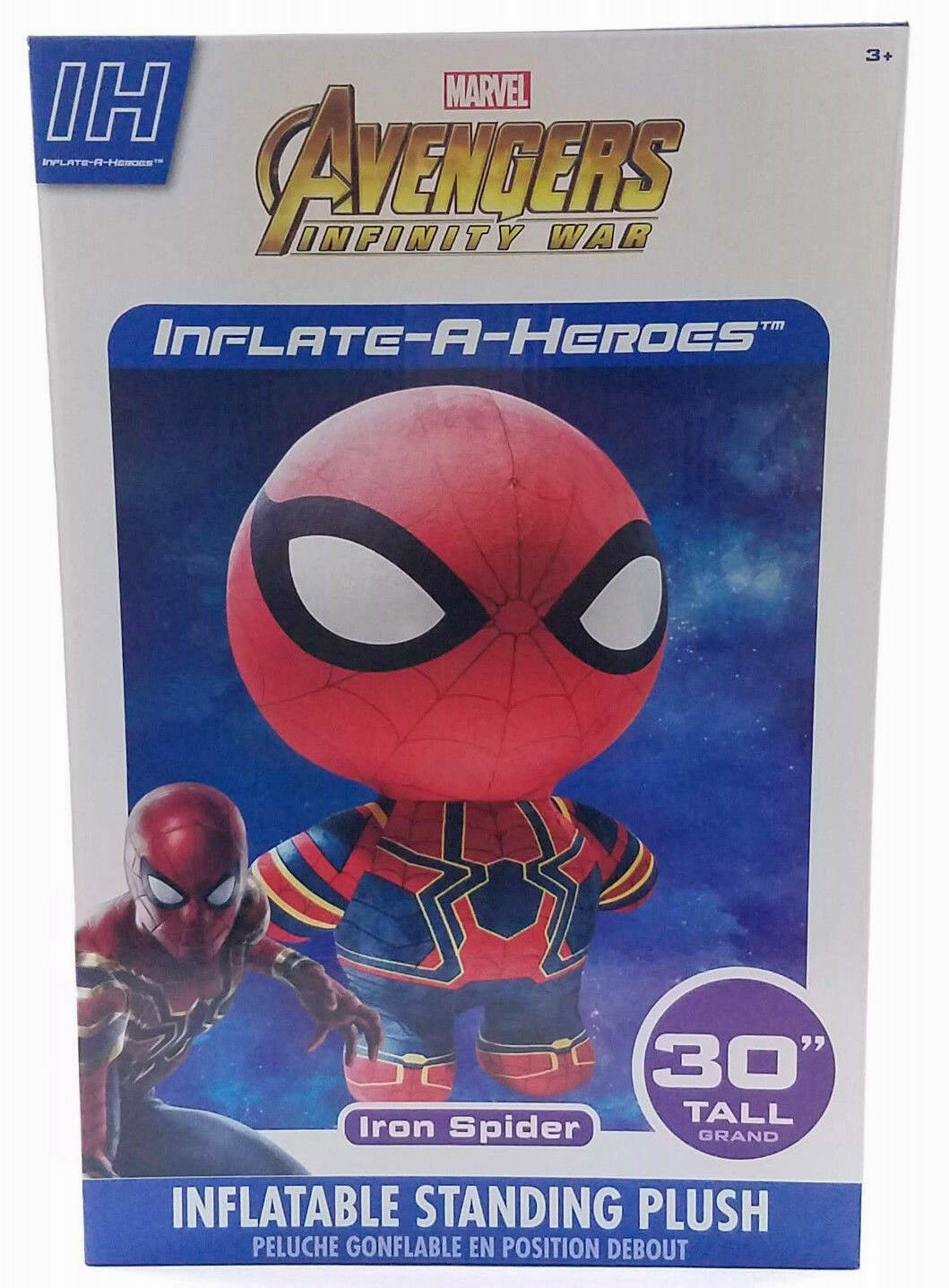 Marvel Infinity guerras Iron Spider Inflate-A-Hero Inflatable Plush Hero giocattolo 30