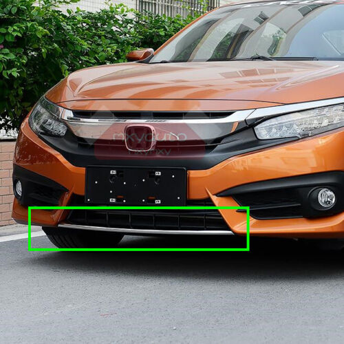 New Chrome Front Bumper Moulding Trim for Honda Civic 10th Gen 2016 2017 2018