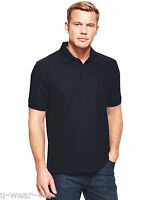 MENS MARKS & SPENCER BLUE HARBOUR 100% COTTON POLO SHIRT M&S BLACK NAVY
