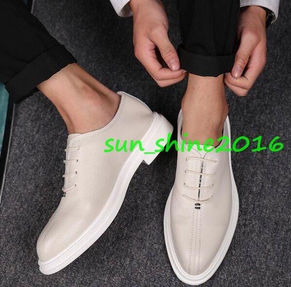 edbc02bad5 ... Para Para Para Hombre Elegante plano con cordones de cuero suave transpirables  Zapatos para Oxfords puntiagudo ...