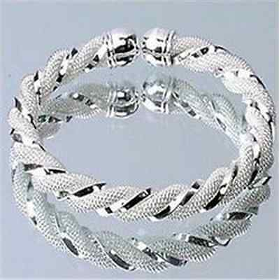 Xmas gift Fashion Jewelry Wholesale Womens Solid 925Silver Bangle/Bracelet Cuff