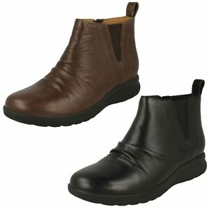 Clarks Ladies Unstructured Ankle Boots