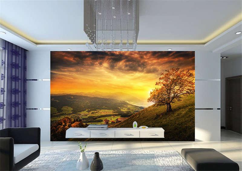 Switzerland Landscape Full Wall Mural Photo Wallpaper Print Kids Home 3D Decal