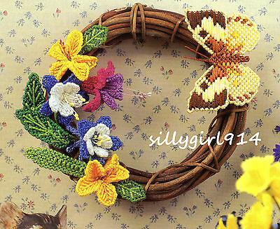 """FLOWER & BUTTERFLY ACCENTS""~Annie's Plastic Canvas PATTERN INSTRUCTIONS ONLY"