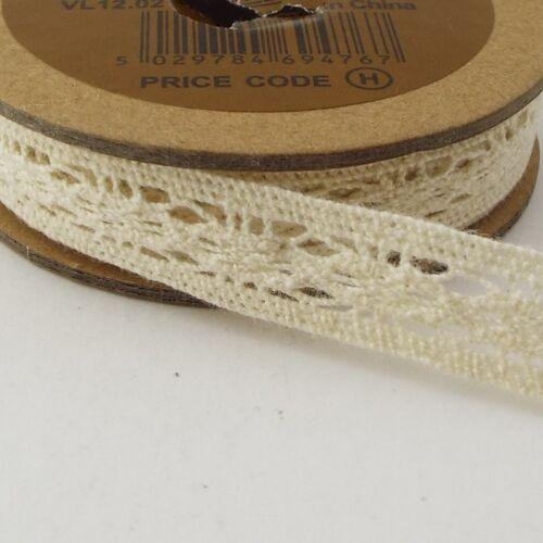 Calidad de algodón Cluny Lace 8mm a 20mm Blanco Crema Disfraz Ropa Etc comprar 1 2 5m