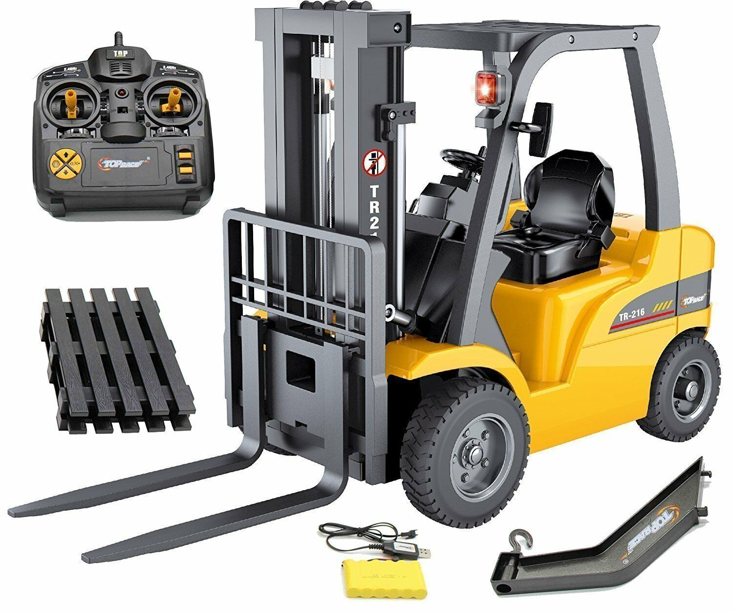 Top Race JUMBO Remote Remote Remote control forklift 13 Inch Tall, 8 Channel Full... bb3b01