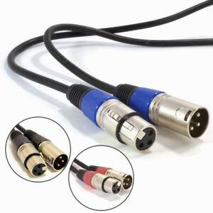 30cm-10m-Mikrofon-Kabel-XLR-Balanced-Kabel-Stecker-auf-Xle-Buchse-Buchsen