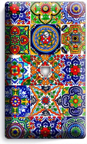 MEXICAN TALAVERA TILES DESIGN PHONE TELEPHONE WALL COVER PLATE KITCHEN ART DECOR