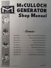 New Listingmcculloch 1500 2000 3000 Amp H 2000 Portable Generator Service Repair Shop Manual