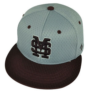 f3d483ace62 NCAA Mississippi State Bulldogs Zephyr Flat Bill Hat Cap Fitted Size ...