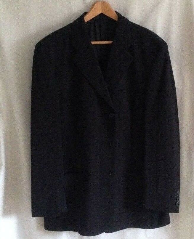 bluee Pure New Wool  Single Breasted PIERRE CARDIN Comfort Suit  Chest 44 inches