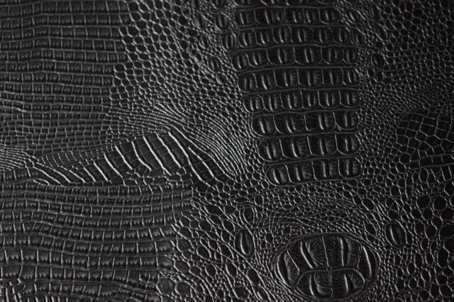 Marine Vinyl Fabric Black Alligator Croc Automotive Upholstery 54