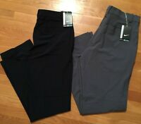 Nike Golf Pants Woven Dri-fit Flat Front Mult Sizes Black And Gray Style 639782