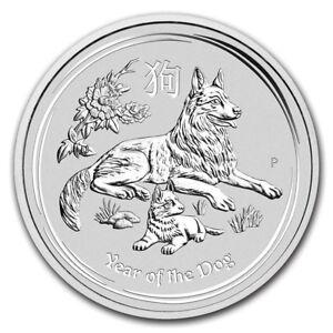 Details about 2018 Australia 2 oz Silver Lunar Dog