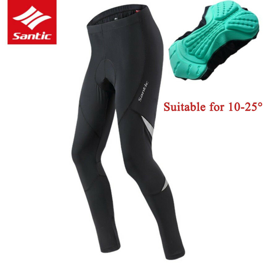 Santic Men Cycling Tight Pants Pro Veision Breathable 4D Cushion Spots Trousers