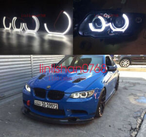 Details About 4pcs Angel Eyes Dtm Style E92 E93 E90 M4 Style For Bmw 3 Series Headlights