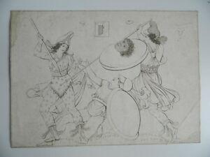 Gravur Anonym Szene Phrygische Nach Zeichnung Vase Griechisch