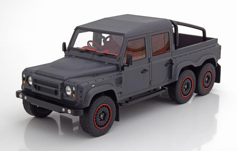 el más barato 2015 Land Rover Defender Defender Defender Volador Cazador 6x6 RHD Mate gris 1 18 Escala Le De  liquidación hasta el 70%