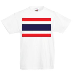 Thailand Kid/'s T-Shirt Country Flag Map Top Children Boys Girls Unisex