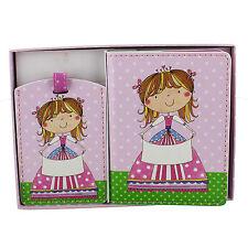 Child's Girls Pink Passport & Luggage Tag Rachel Ellen Fairy Design RE104G