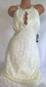 NW-NIGHTWAY-18XL-BRIDAL-WEDDING-Dress-Ivory-Shimmer-Lace-Lined-Embroidered