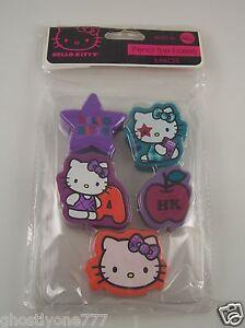 Hello-Kitty-pencil-top-erasers-5-different-designs-Sanrio-Make-school-work-fun