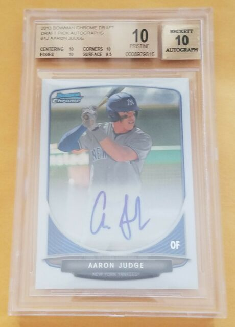 2013 Bowman Chrome Draft #AJ Aaron Judge Auto RC BGS 10/ 10 AUTO PRISTINE