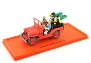 Metal-maqueta-de-coche-1-43-tim-y-Tintin-Tintin-Collection-Jeep-Willys-1943-Atlas
