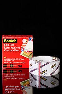 3M-SCOTCH-BOOK-TAPE-38mm-x-13-7m-roll-clear-repair-tape