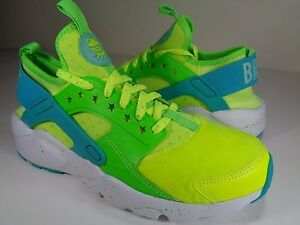 38c041ce6e9c Womens Nike Air Huarache Run Ultra DB Doernbecher Volt Jade SZ 7.5 ...