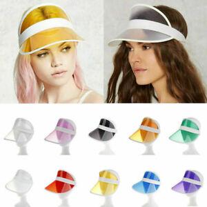 Summer PVC Hat Sun Visor Party Casual Unisex Hat Clear Plastic Adult Cap w
