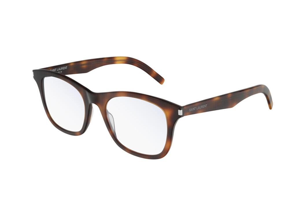 Brand New Saint Laurent Eyeglasses SL 286 SLIM 006 Havana Square Authentic
