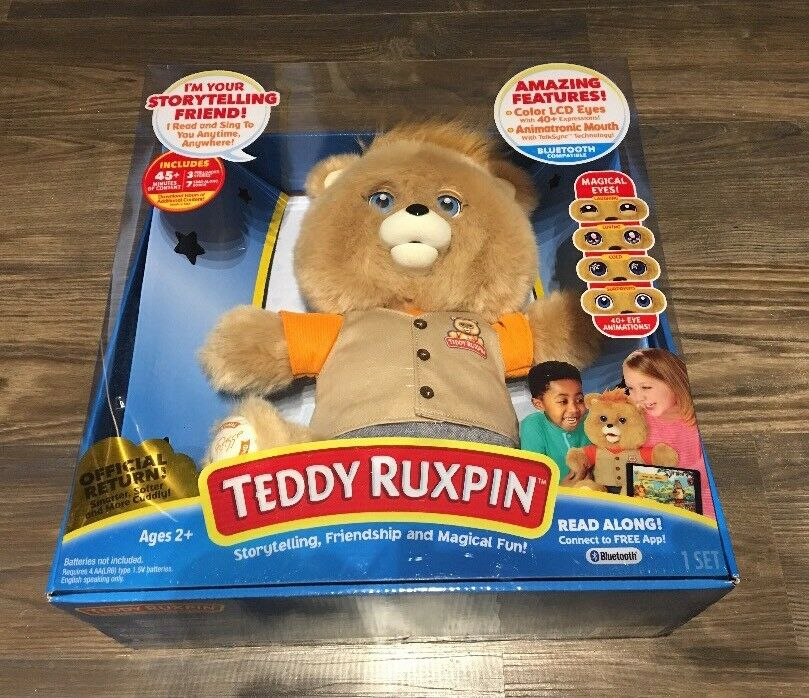 Teddy Ruxpin (2017) - OFFICIAL RETURN! Color LCD Eyes BLUETOOTH Compatible NIB!
