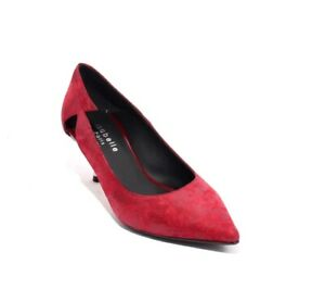 Isabelle-419b-Red-Suede-Leather-Pointy-Toe-Classic-Heel-Pumps-36-US-6
