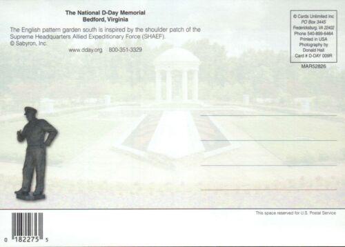 Bedford Virginia The National D-Day Memorial English Pattern Garden Postcard