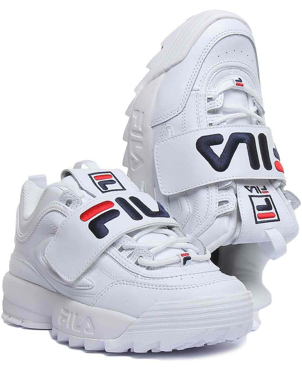 FILA Disruptor Femmes Baskets Synthétique White-Ex Exposition Taille 6 UK
