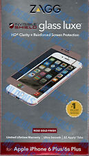 Zagg Invisible Shield Glass Luxe Screen Protector iPhone 6/6s Plus HD Rose Gold
