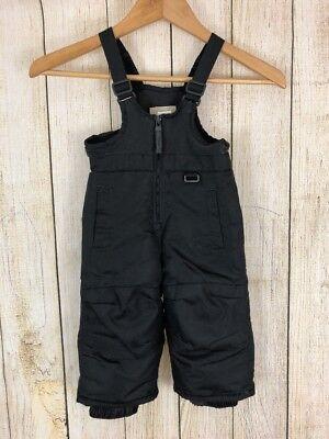 New Toddler Boys Girls Snow Black Bibs Overalls Size NWOT 12m