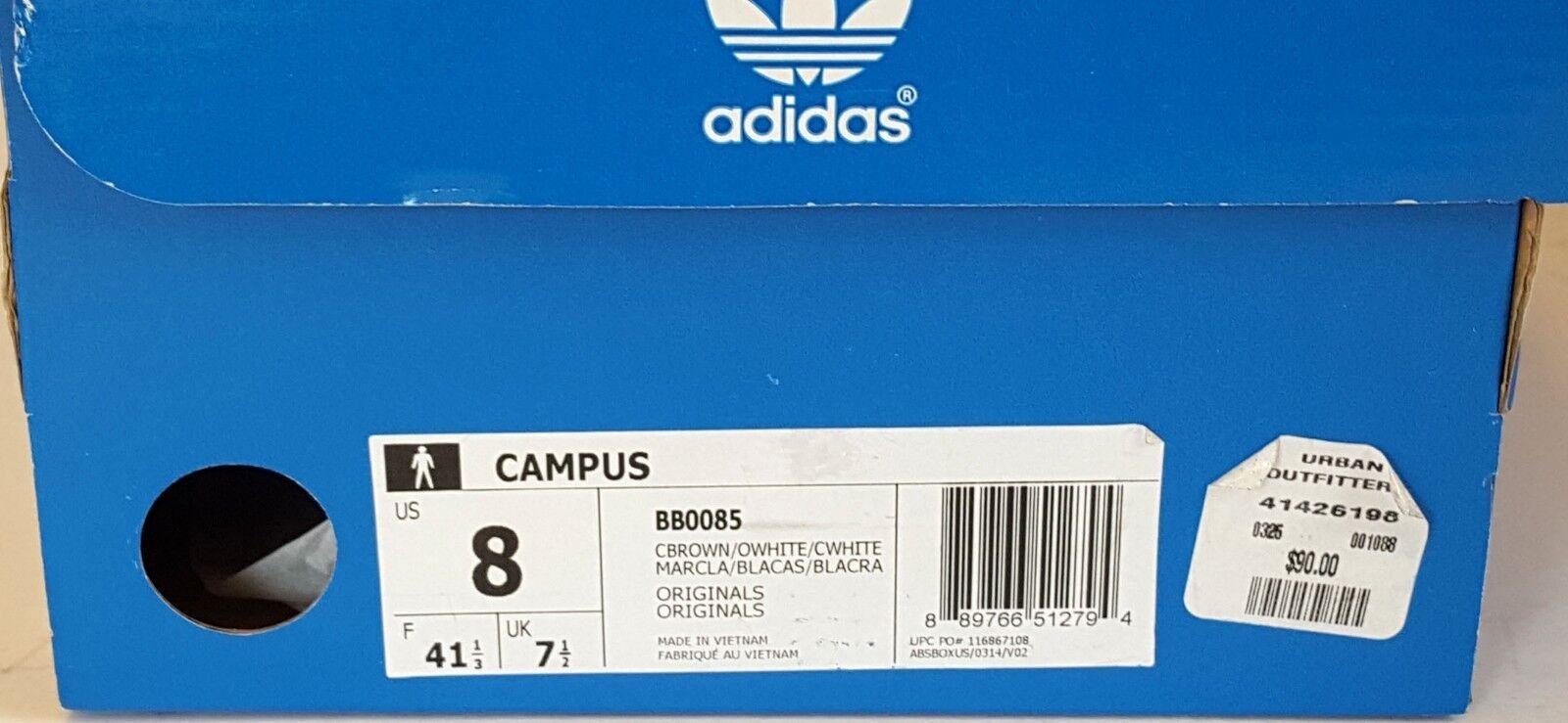 Adidas Uomo chiaro marrone / bb0085 bianco originale campus bb0085 / moda scarpe taglia 8 e328e8