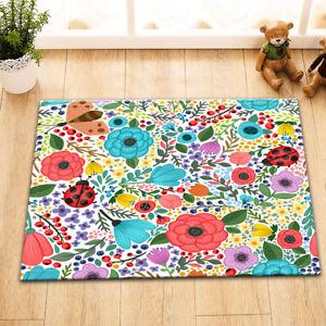 Image Is Loading 24x16 034 Kitchen Bathroom Flowers Ladybug Pattern Non