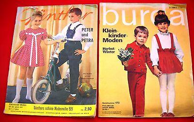 """Burda Kleinkindermoden Herbst/Winter 12/69 plus """"Günther"""" schöne Modenreihe 521"""