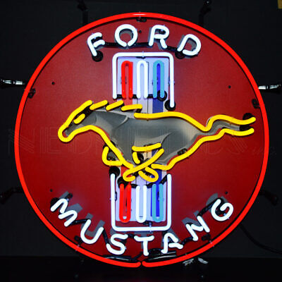 """FORD Mustang Car Racing OLP Sign Neon Sign 24/""""x24/"""""""