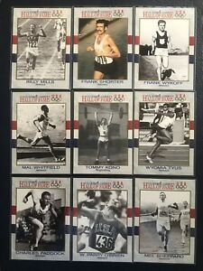 1991-Impel-U-S-Olympic-HOF-9-Card-Lot-Track-amp-Field-GOLD-Medalists-LOT-3