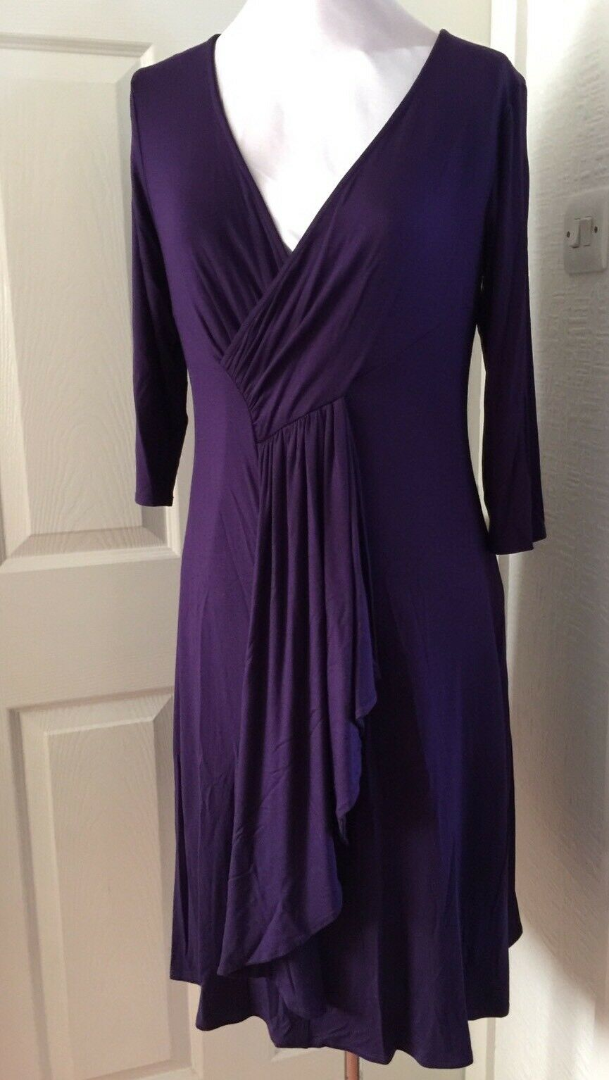 BNWT Phase Eight  8 Marcia Grape Jersey Dress Größe 16