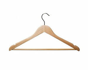 100-Wooden-Coat-Shirt-Tops-Jeans-Clothes-Display-Hanger