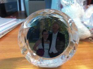 palla di neve con vostre foto forma di diamante