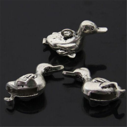 PJ827 5pc Tibetan Silver duck Charm Beads Pendant accessories wholesale