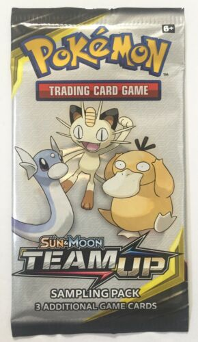 NEW SEALED! Pokemon Sun /& Moon Team Up Sampling Sample Mini Promo Booster Pack