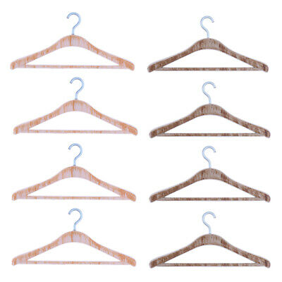 4pcs 1:12 Miniature Dollhouse Clothing Hangers Bedroom Wardrobe Accessories Gift