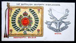 SEAFORTH HIGHLANDERS  1st Battalion Insignia    Original Vintage Card # VGC